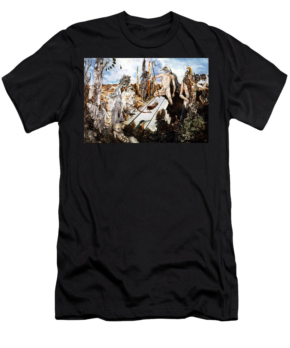 Surrealism T-Shirt featuring the painting Bogomils Court by Otto Rapp