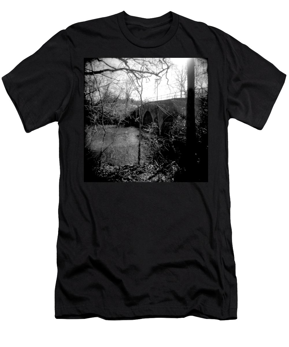 Photograph Men's T-Shirt (Athletic Fit) featuring the photograph Boiling Springs Bridge by Jean Macaluso