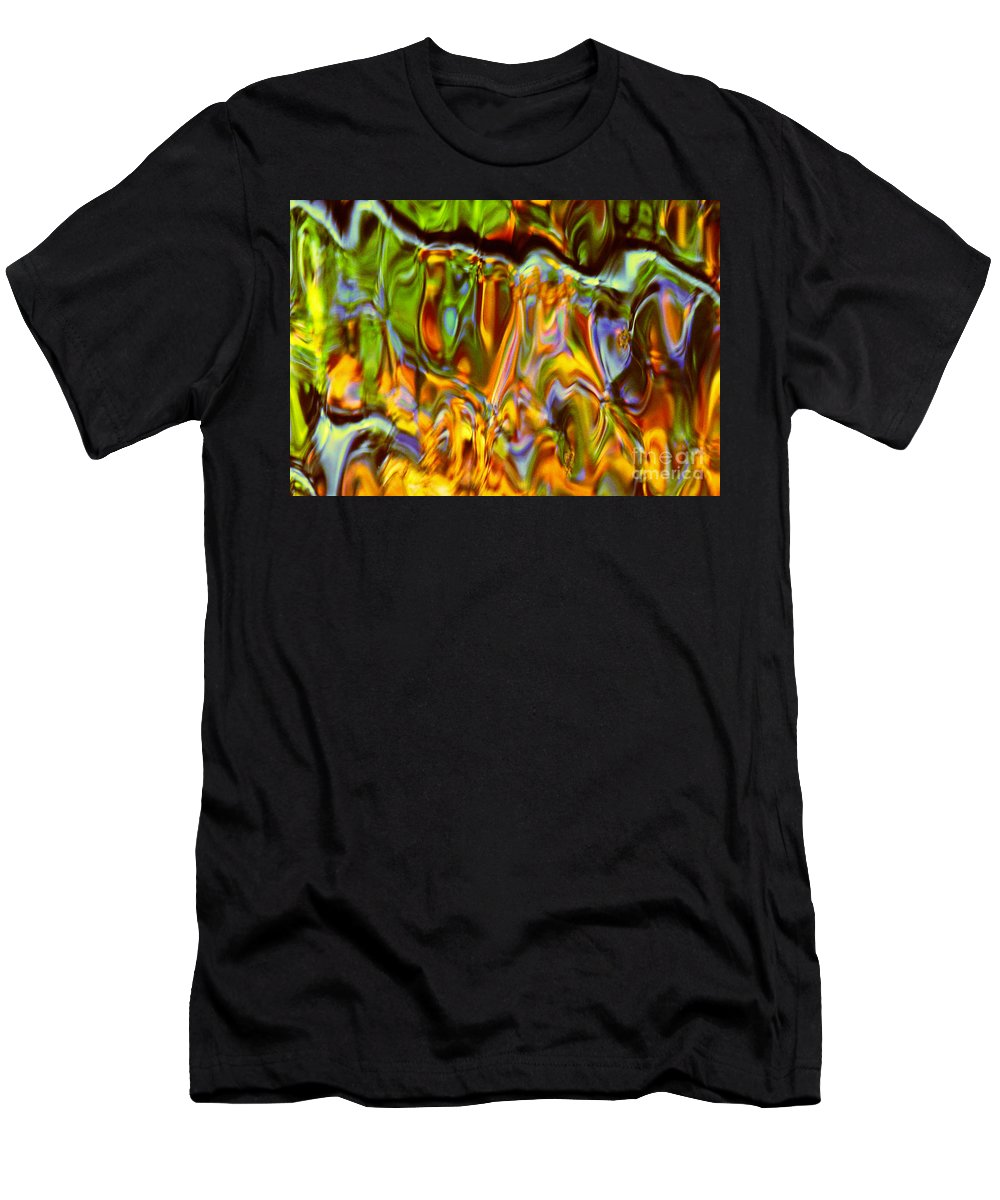 Abstract Men's T-Shirt (Athletic Fit) featuring the photograph Boisterous Bellows Of Colors by Sybil Staples