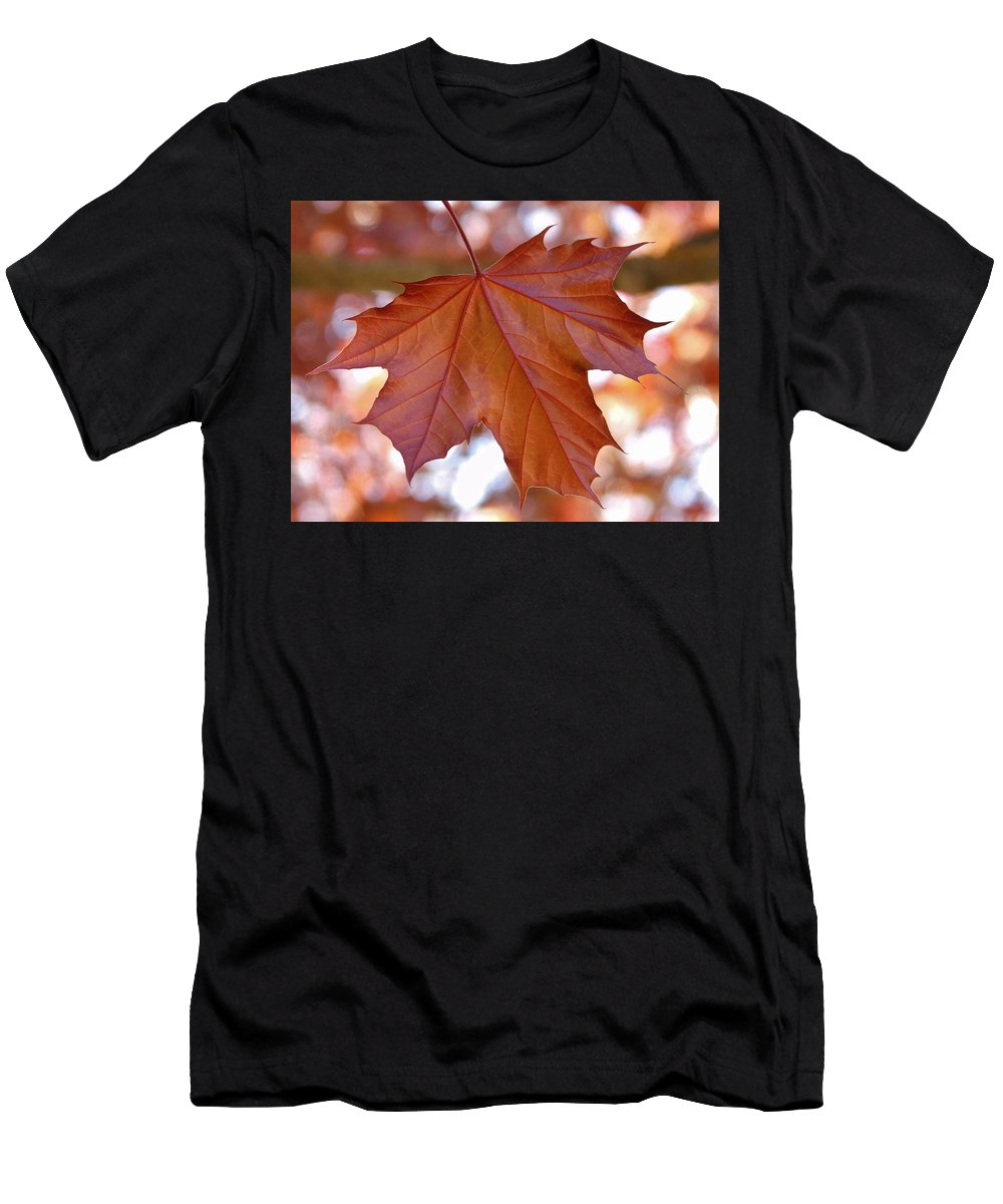 Bokeh Men's T-Shirt (Athletic Fit) featuring the photograph Bokeh Maple by Barbara St Jean