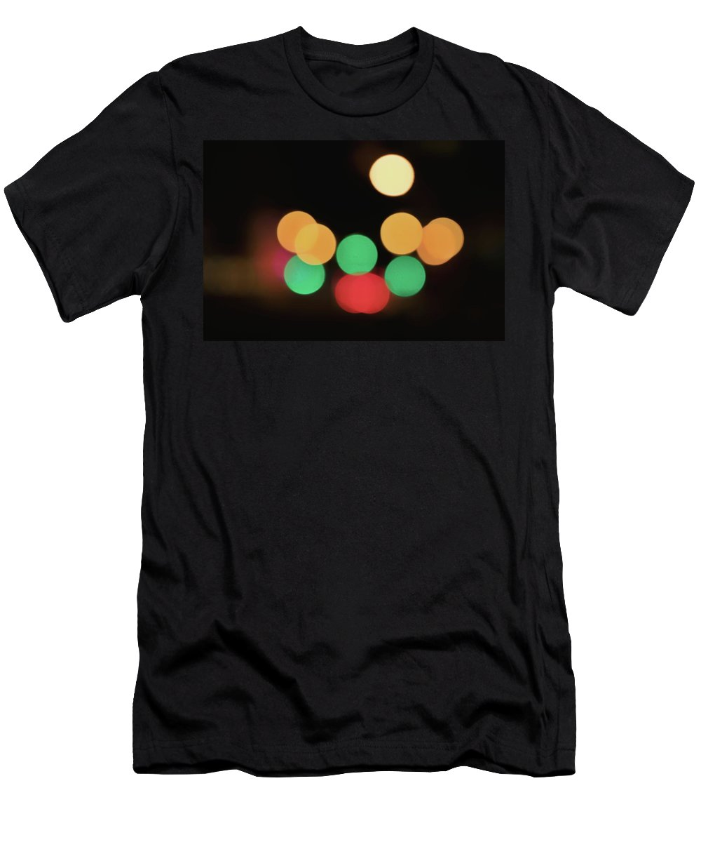 Bokeh Men's T-Shirt (Athletic Fit) featuring the photograph Bokeh Y Bokeh by Mike Dunn