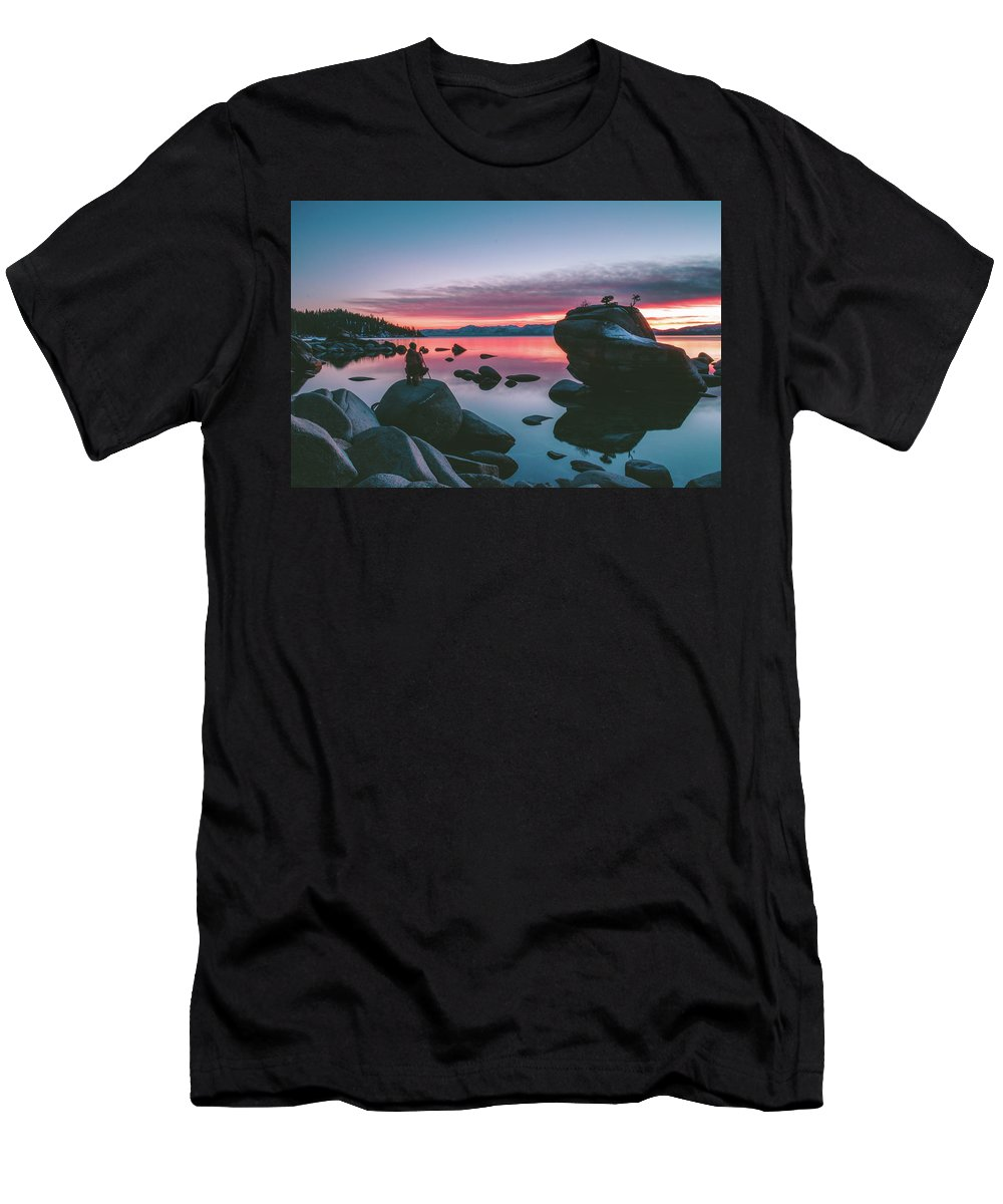 Men's T-Shirt (Athletic Fit) featuring the photograph Bonsai Rock Sunset by Conner Koch