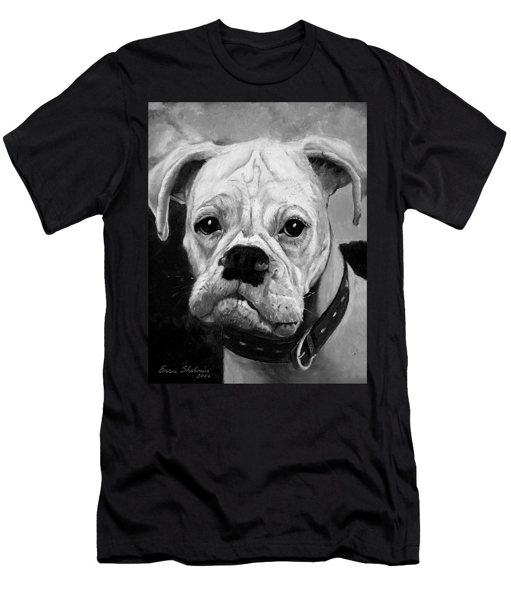 Boxer T-Shirt featuring the painting Boo the Boxer by Portraits By NC