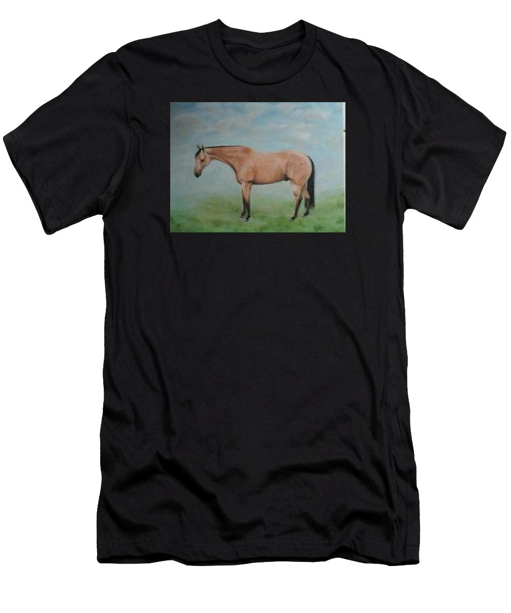 Horse Men's T-Shirt (Athletic Fit) featuring the painting Boris by Carol Faga