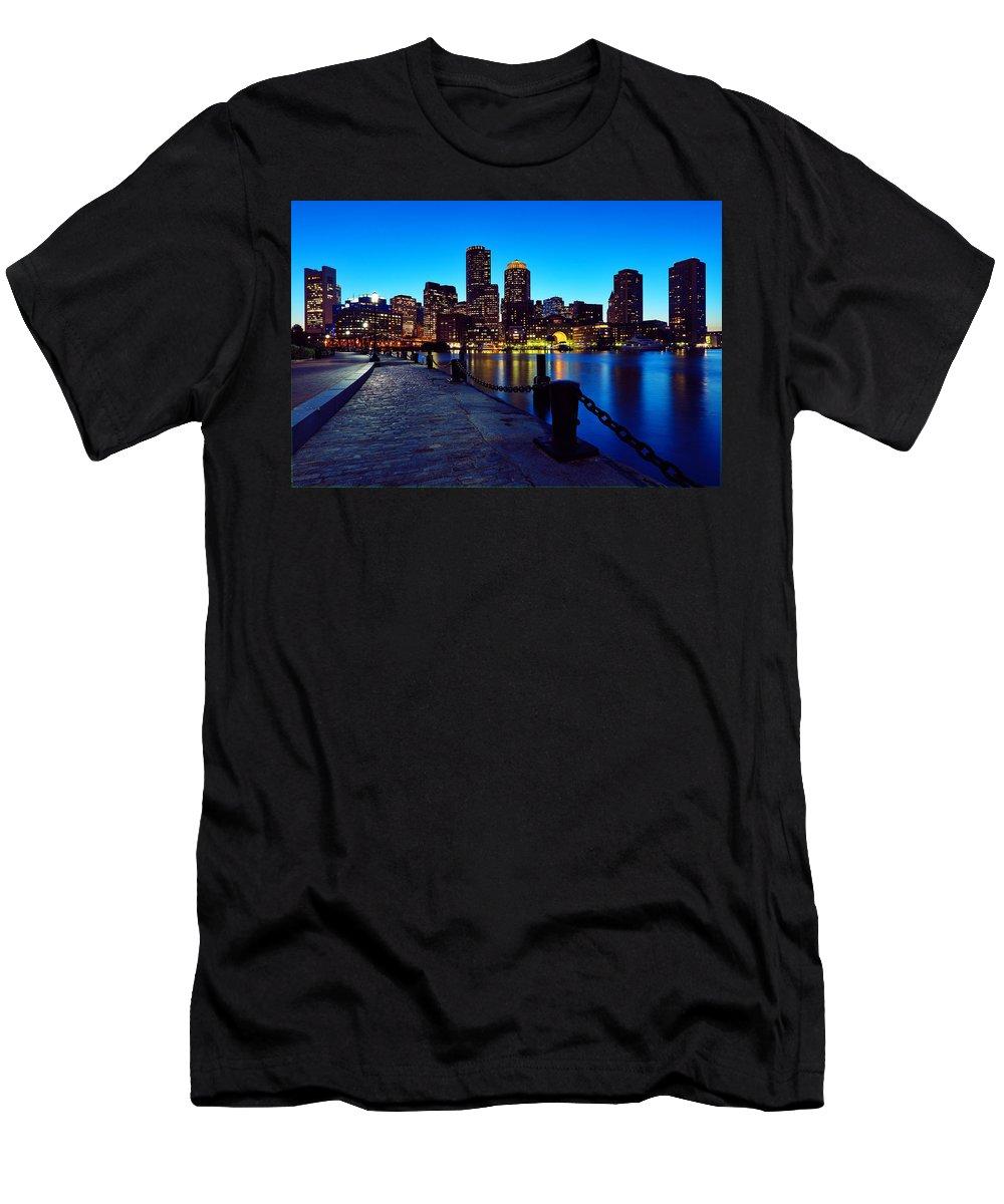 Boston Men's T-Shirt (Athletic Fit) featuring the photograph Boston Harbor Walk by Rick Berk