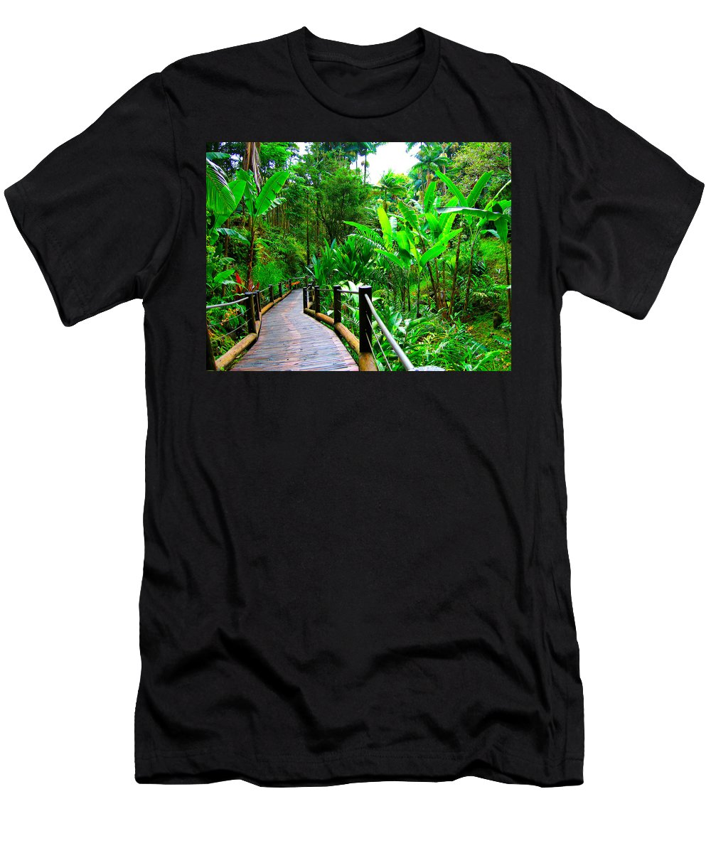 Landscape Men's T-Shirt (Athletic Fit) featuring the photograph Botanic Gardens Trail by James O Thompson