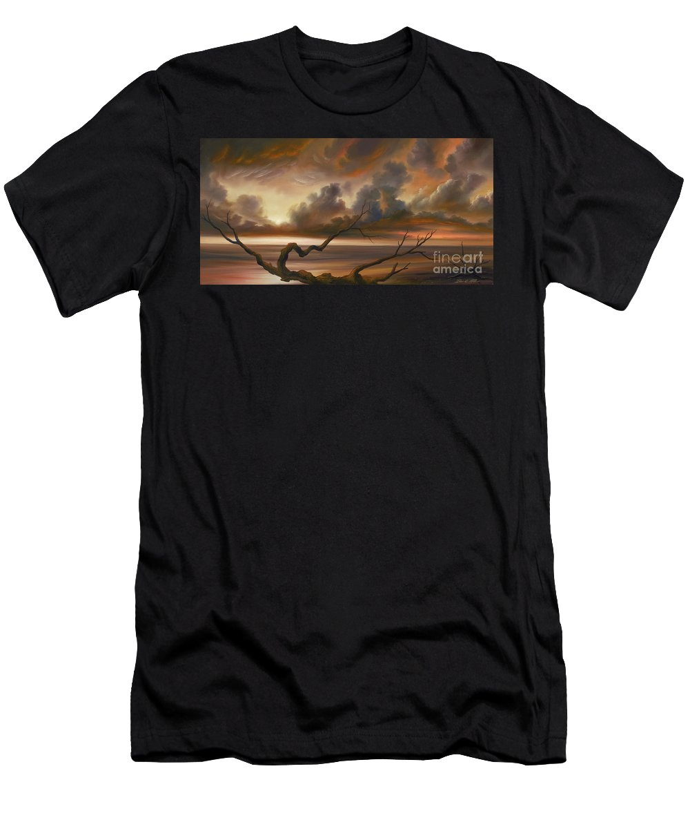 Ocean Men's T-Shirt (Athletic Fit) featuring the painting Botany Bay by James Christopher Hill