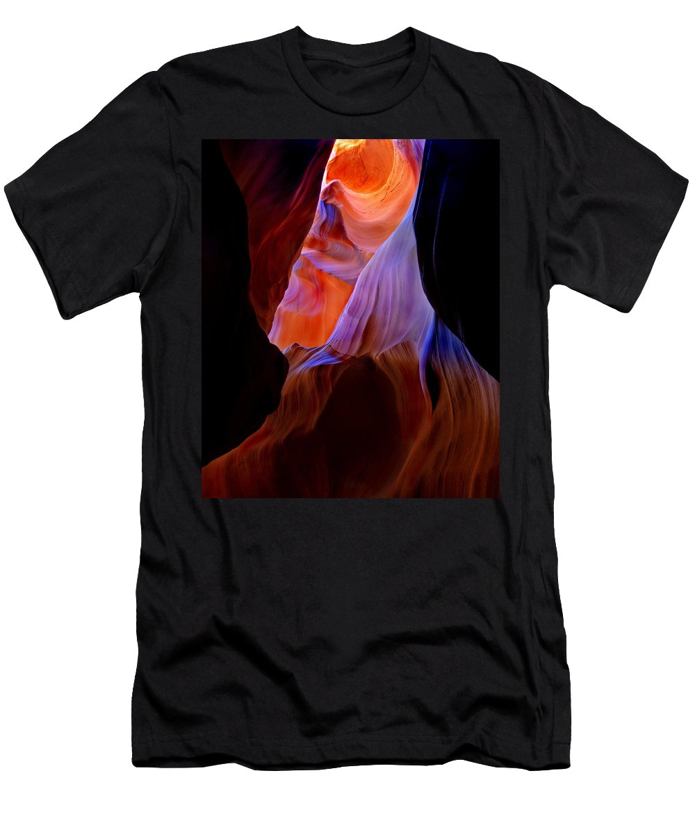 Canyon Men's T-Shirt (Athletic Fit) featuring the photograph Bottled Light by Mike Dawson
