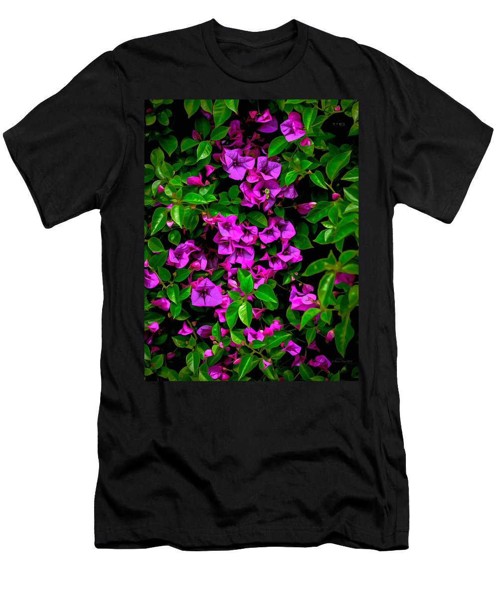 Digital Men's T-Shirt (Athletic Fit) featuring the photograph Bougainvillea Floral Print by Brian Tada