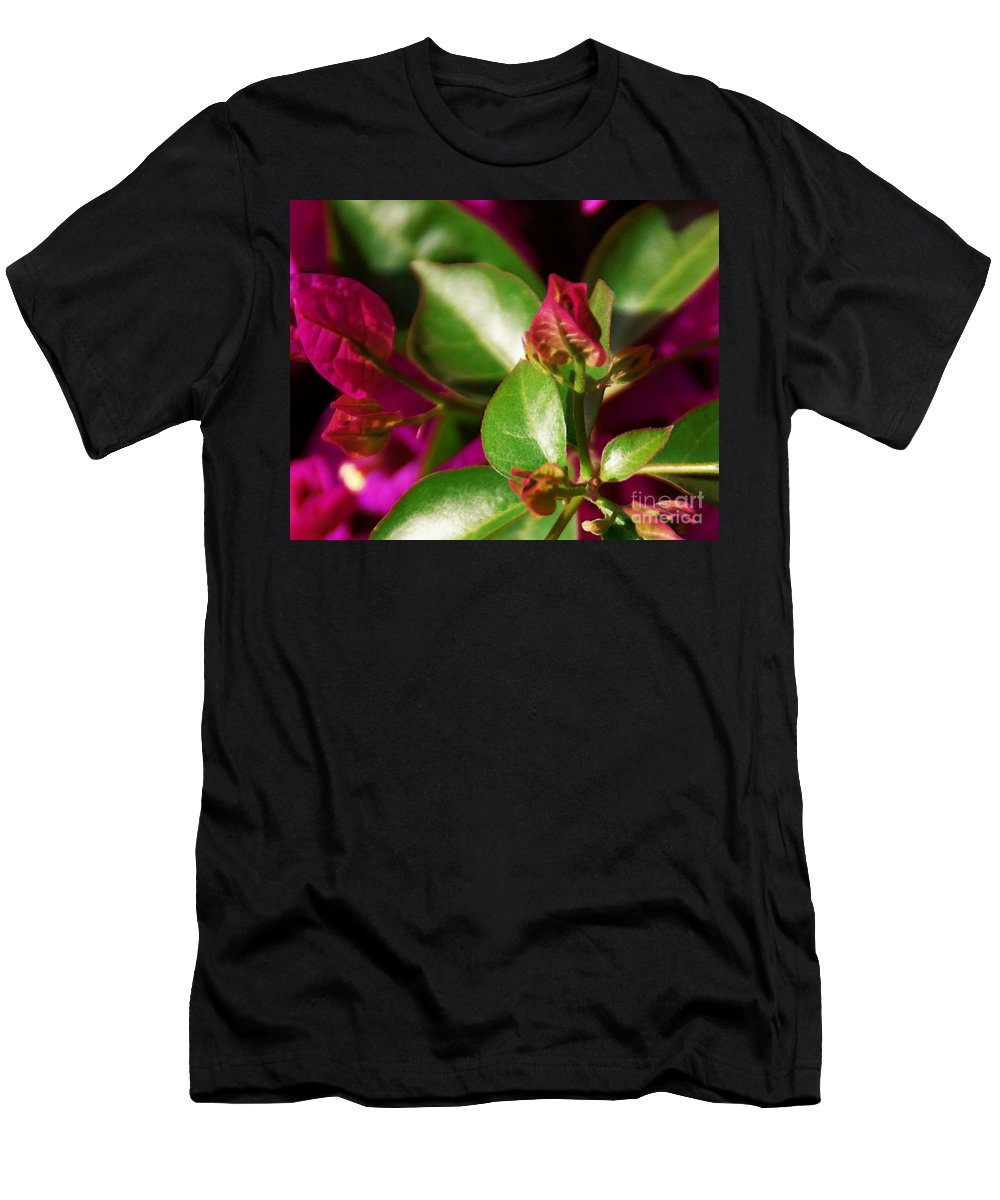 Bougainvillea Men's T-Shirt (Athletic Fit) featuring the photograph Bougainvillea by Linda Shafer
