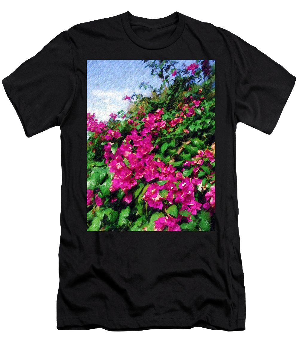 Bougainvillea Men's T-Shirt (Athletic Fit) featuring the photograph Bougainvillea by Sandy MacGowan
