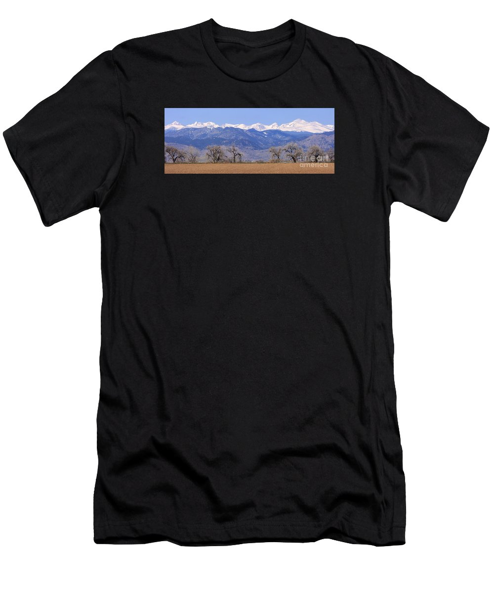 Boulder Men's T-Shirt (Athletic Fit) featuring the photograph Boulder County Colorado Panorama by James BO Insogna