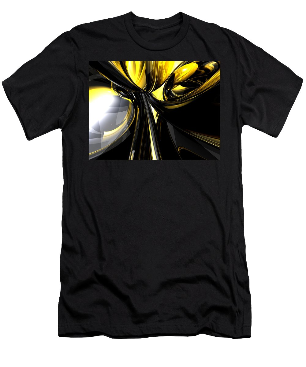 3d Men's T-Shirt (Athletic Fit) featuring the digital art Bounded By Light Abstract by Alexander Butler