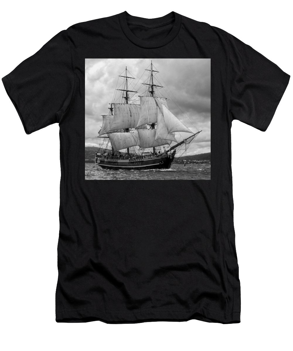 Tall Ship Men's T-Shirt (Athletic Fit) featuring the photograph Bounty by John Hughes