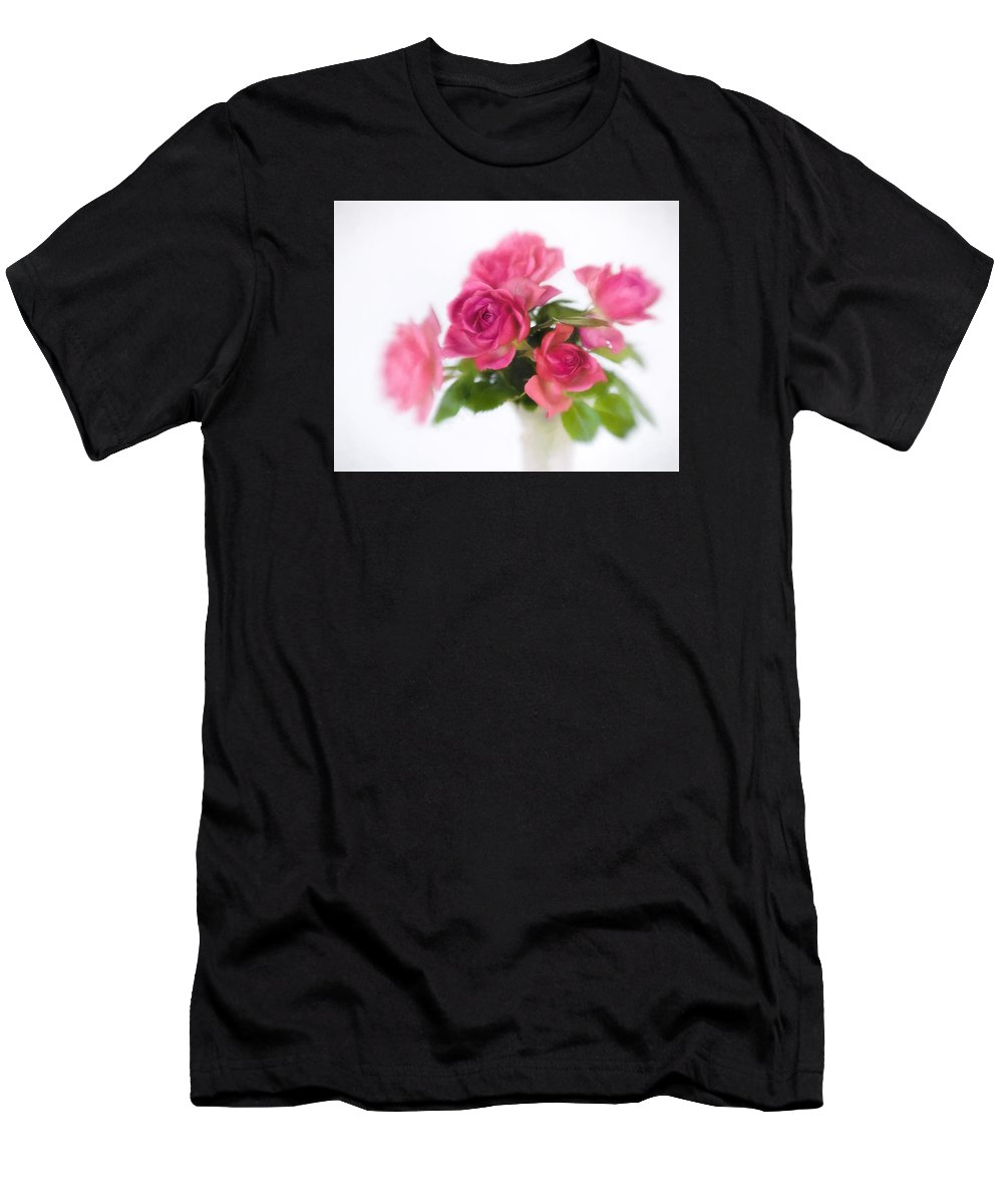 Bloom Men's T-Shirt (Athletic Fit) featuring the photograph Bouquet Of Roses II by David and Carol Kelly