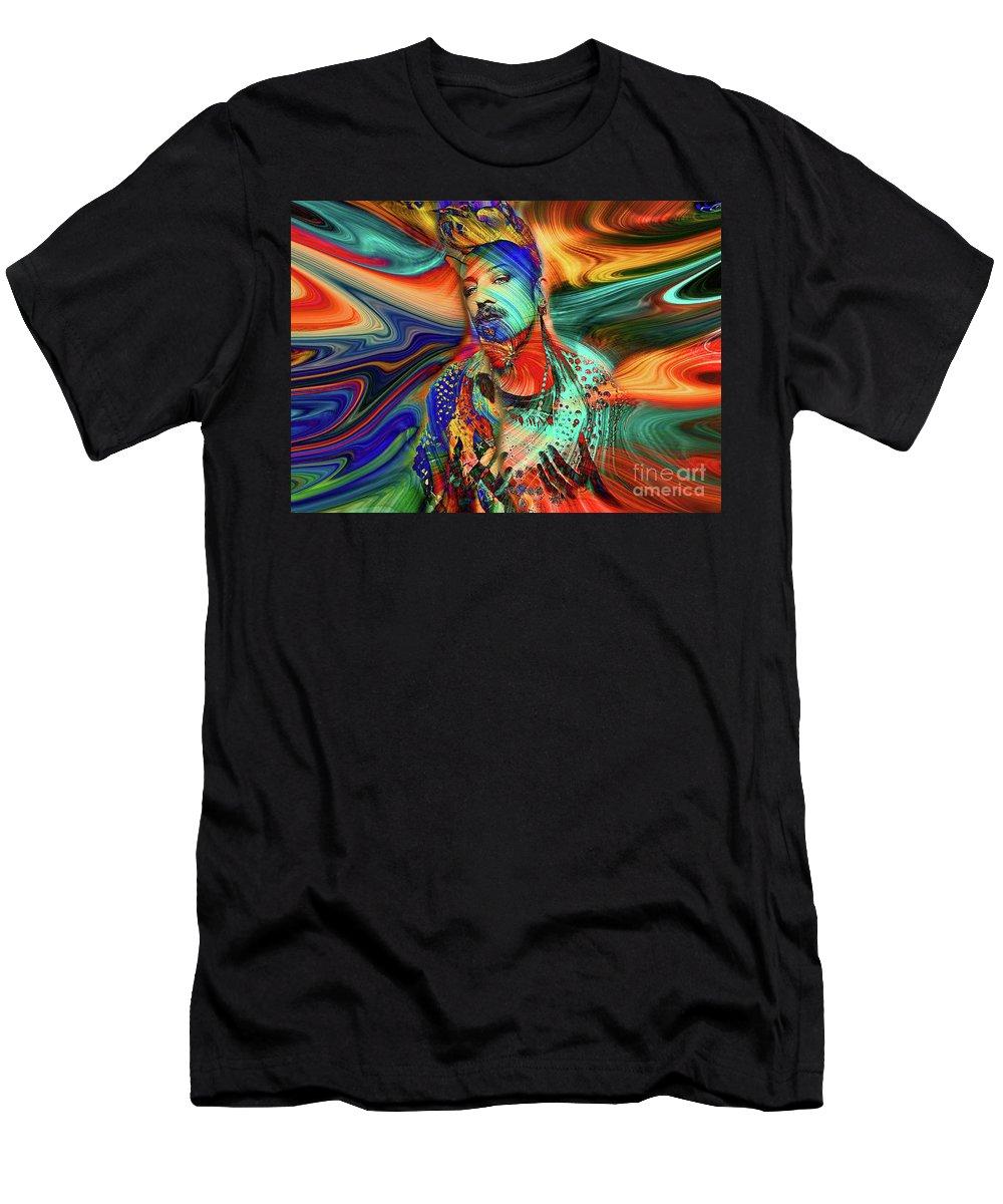 Boy George Men's T-Shirt (Athletic Fit) featuring the digital art Boy George Digital Art by Davids Digits