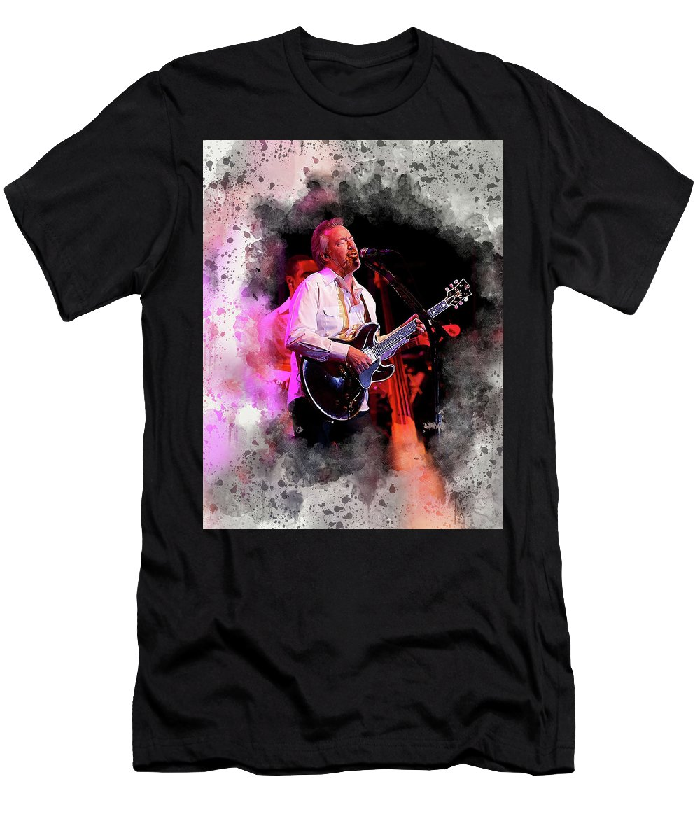 Boz Skaggs Men's T-Shirt (Athletic Fit) featuring the digital art Boz #2 by Karl Knox Images