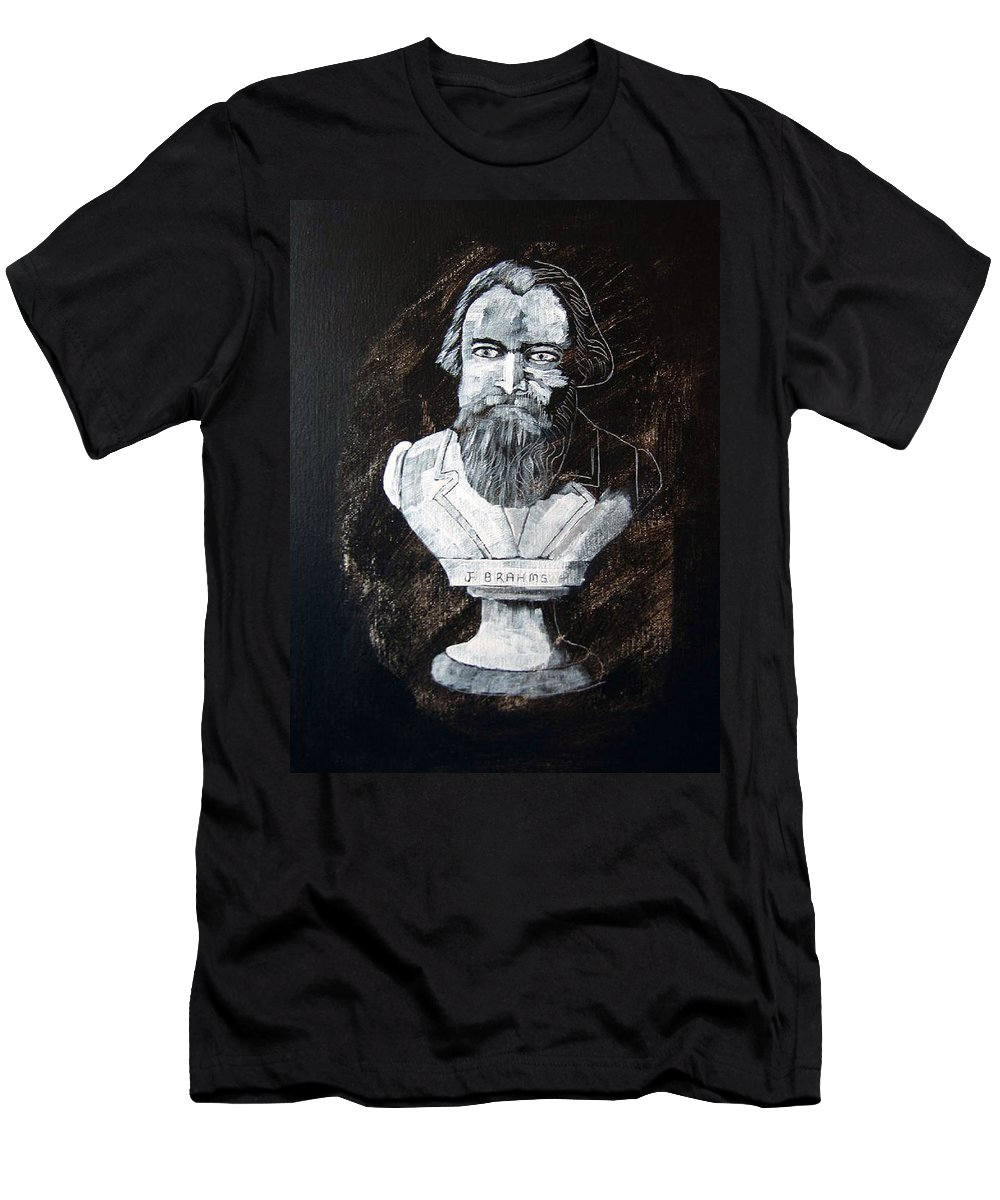 Brahms Men's T-Shirt (Athletic Fit) featuring the painting Brahms by Richard Le Page