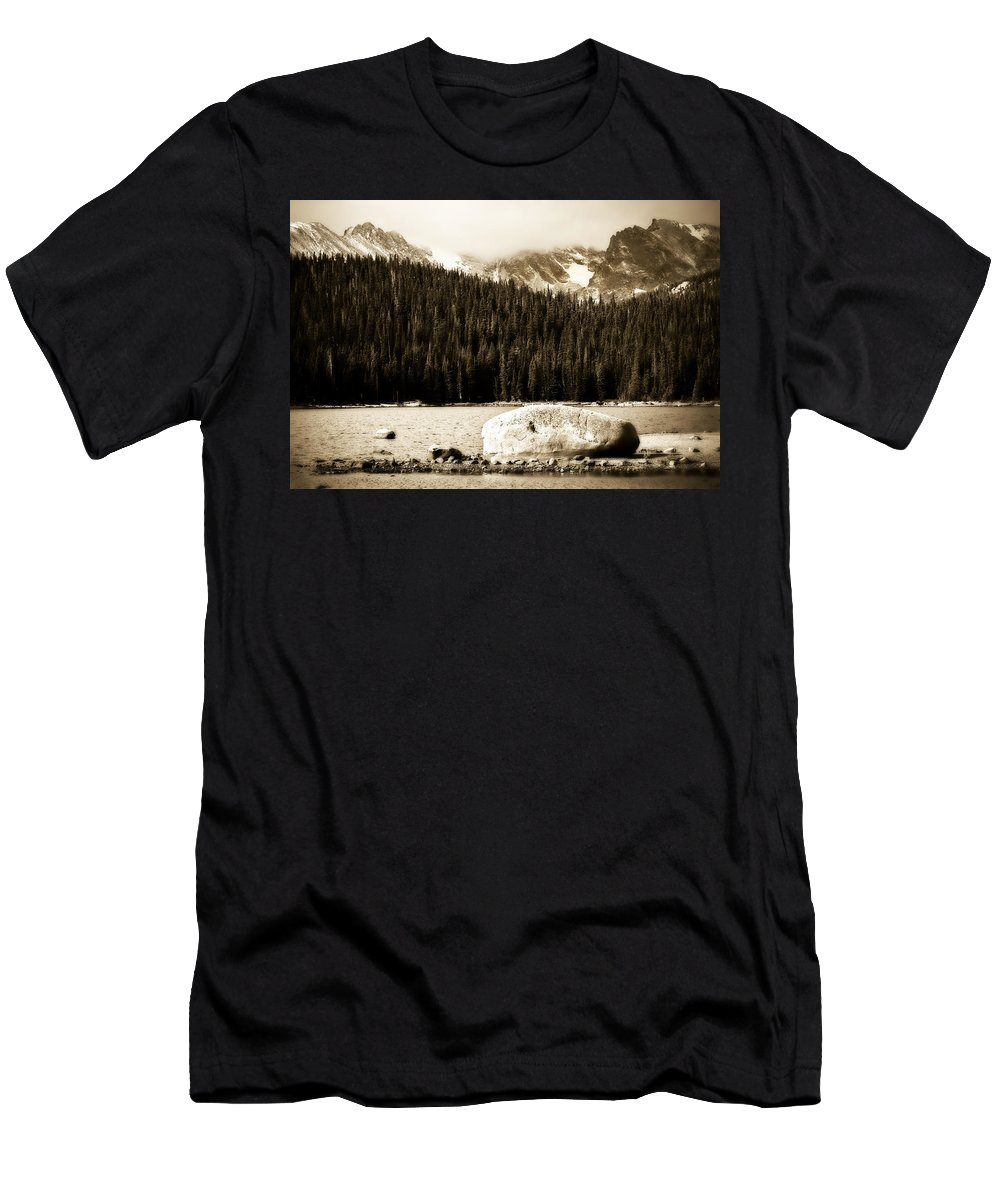 Brainard Men's T-Shirt (Athletic Fit) featuring the photograph Brainard Lake by Marilyn Hunt