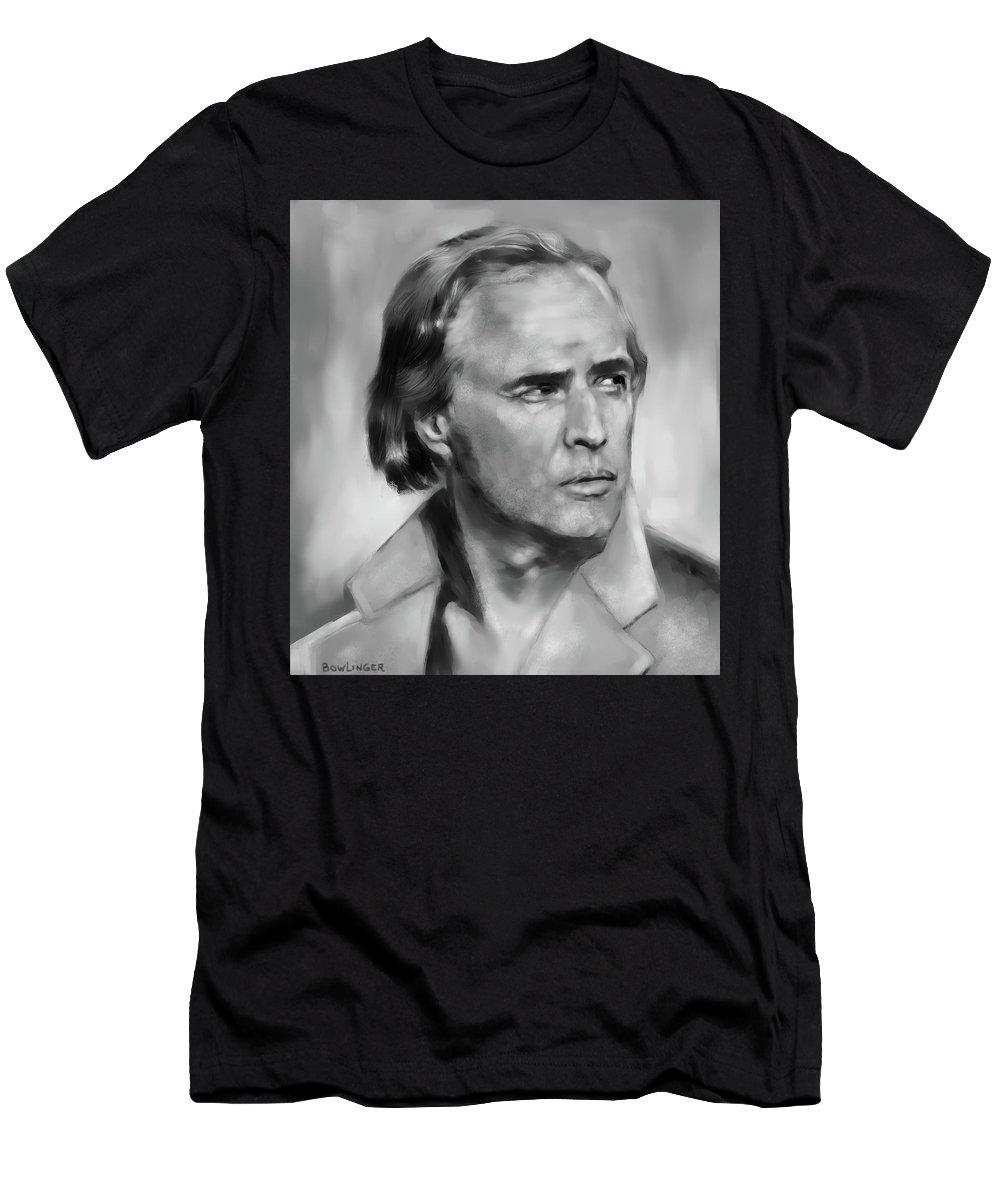 Figure Men's T-Shirt (Athletic Fit) featuring the digital art Brando by Scott Bowlinger