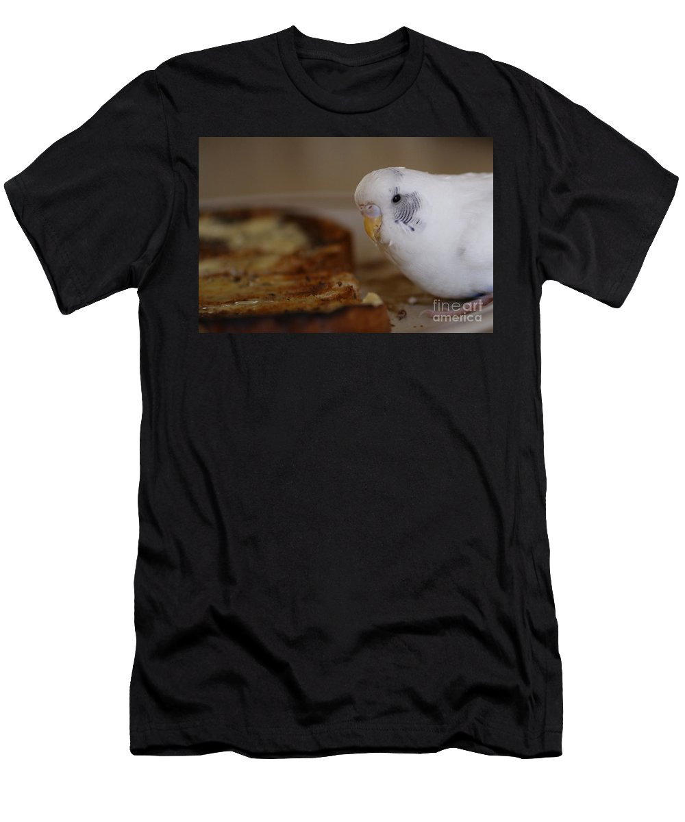 Pets Men's T-Shirt (Athletic Fit) featuring the photograph Breakfast Negotiations by Kym Clarke