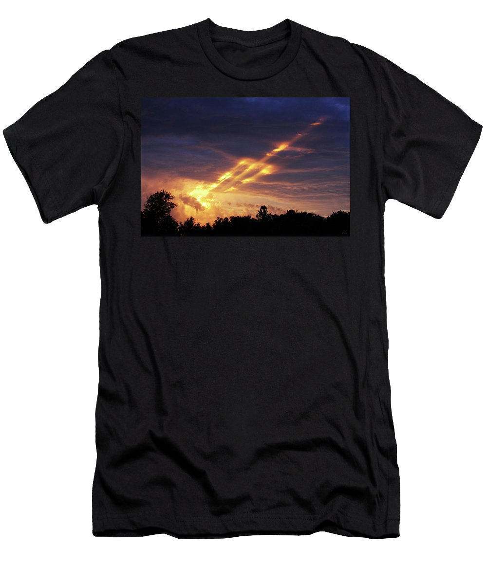 Brad Brailsford Men's T-Shirt (Athletic Fit) featuring the photograph Breaking Storm by Brad Brailsford