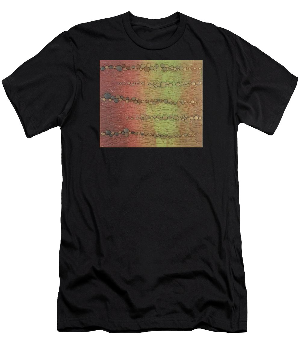 Water Men's T-Shirt (Athletic Fit) featuring the tapestry - textile Breakwater by Peggy Wright