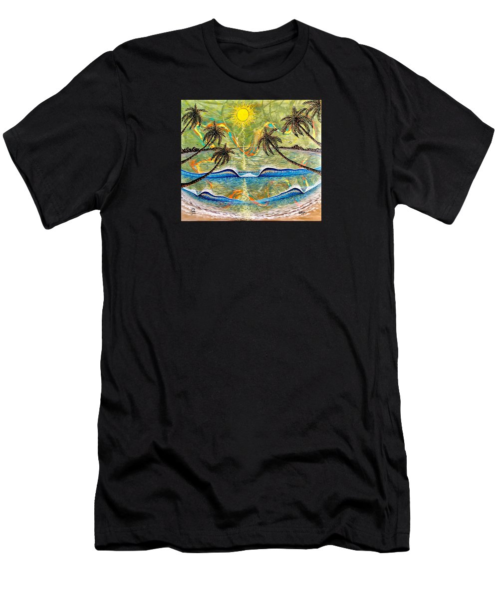 Breathe T-Shirt featuring the painting Breathe In Clarity by Paul Carter