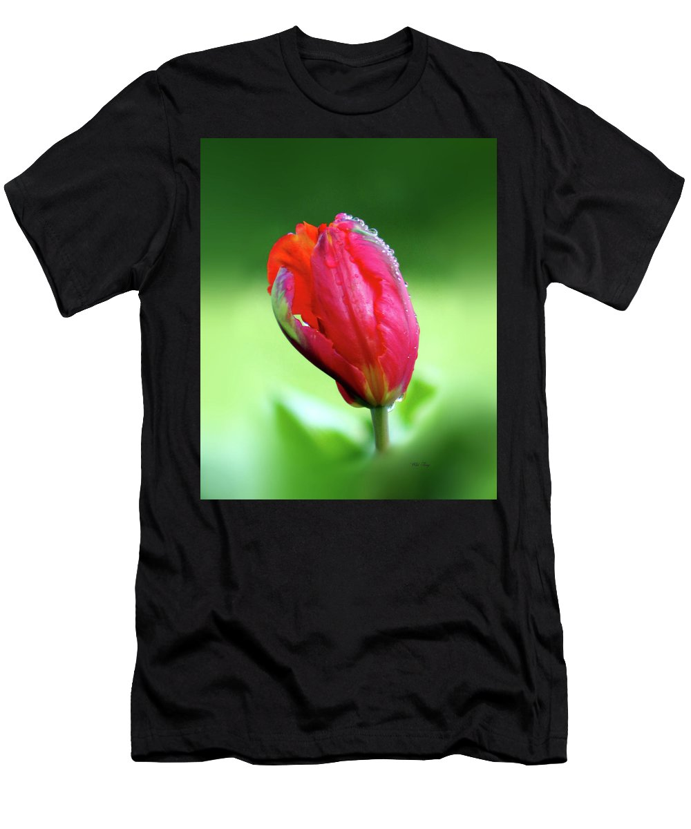 Spring Men's T-Shirt (Athletic Fit) featuring the photograph Breathless Beauty by Wild Thing