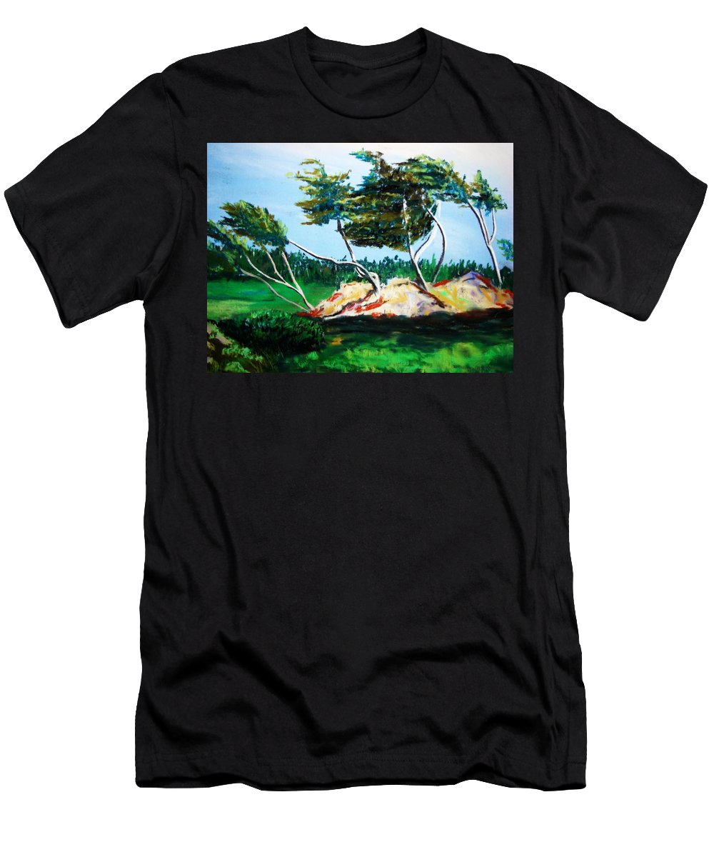 California Men's T-Shirt (Athletic Fit) featuring the painting Breezy by Melinda Etzold
