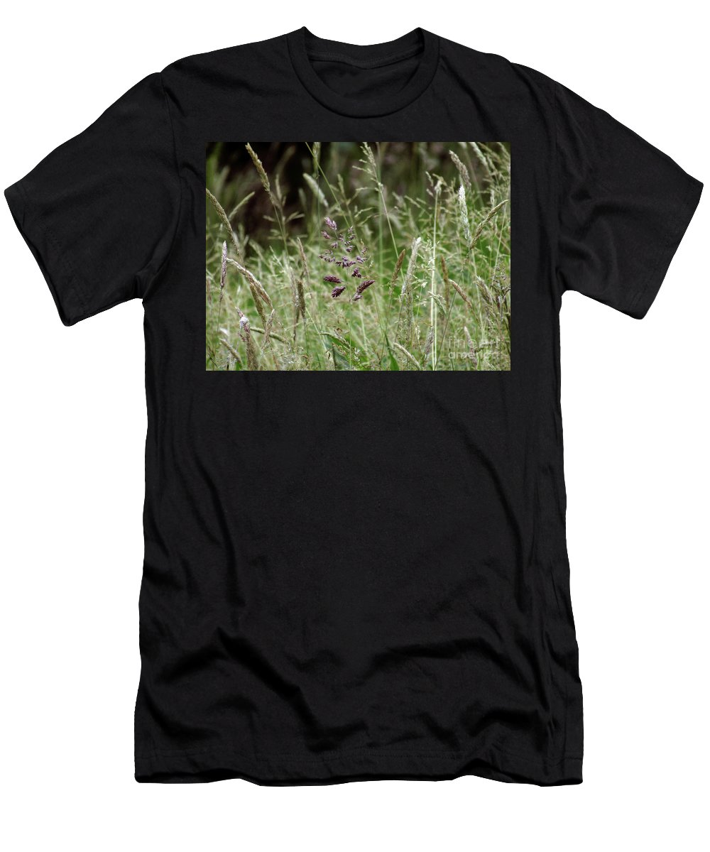 Grass Men's T-Shirt (Athletic Fit) featuring the photograph Breezy Summer 2 by Kim Tran