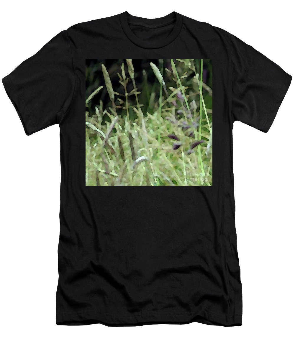 Grass Men's T-Shirt (Athletic Fit) featuring the photograph Breezy Summer 4 by Kim Tran