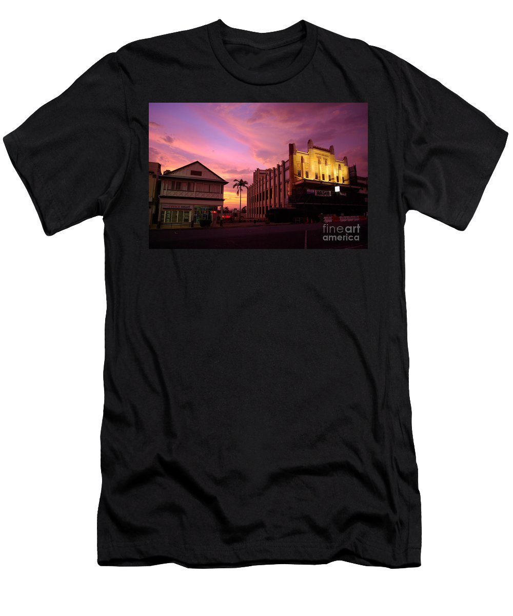 Evening Men's T-Shirt (Athletic Fit) featuring the photograph Brewing Storm by Kerryn Madsen- Pietsch