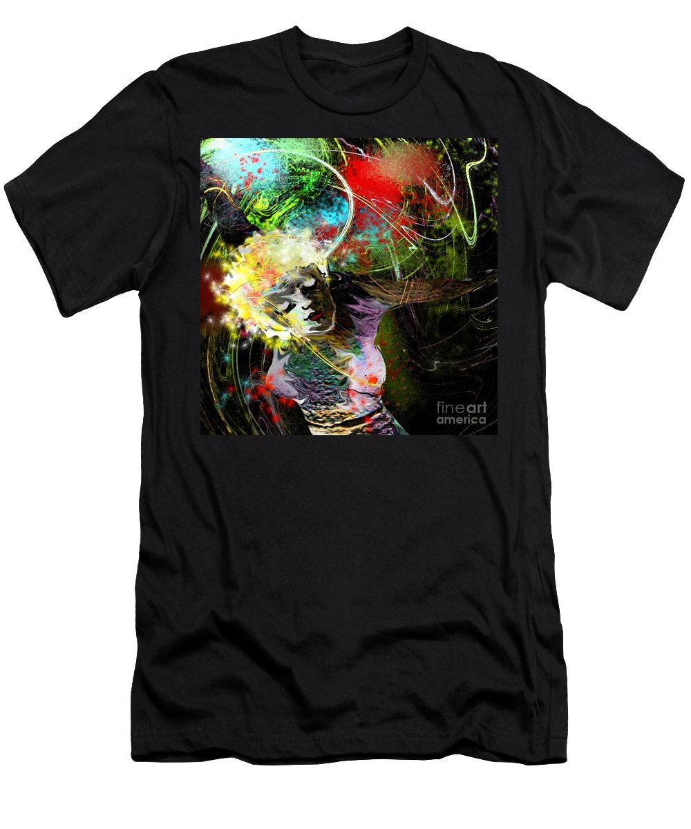 Fantasy Men's T-Shirt (Athletic Fit) featuring the painting Bride Of Halos by Miki De Goodaboom