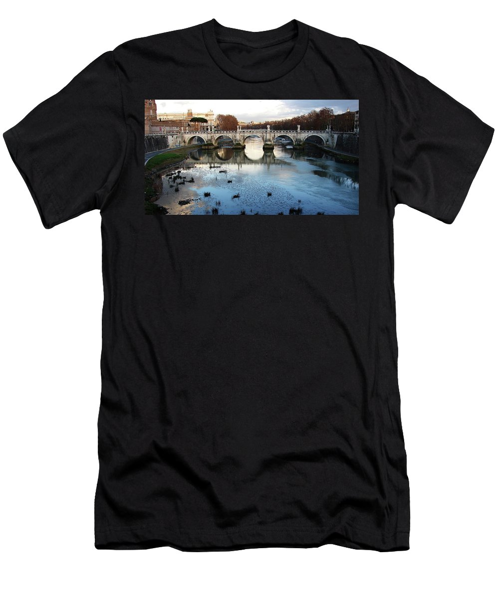 Rome Men's T-Shirt (Athletic Fit) featuring the photograph Bridge In Rome by Brett Winn