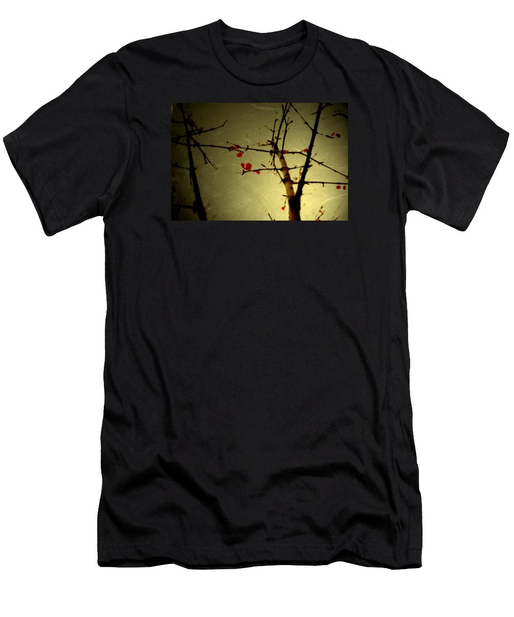 Leaves Men's T-Shirt (Athletic Fit) featuring the photograph Bridge by Mark Ross