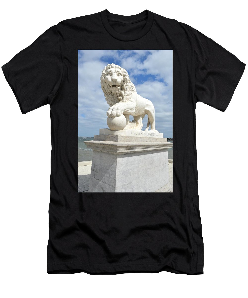 Bridge Men's T-Shirt (Athletic Fit) featuring the photograph Bridge Of Lions II by Linda Covino