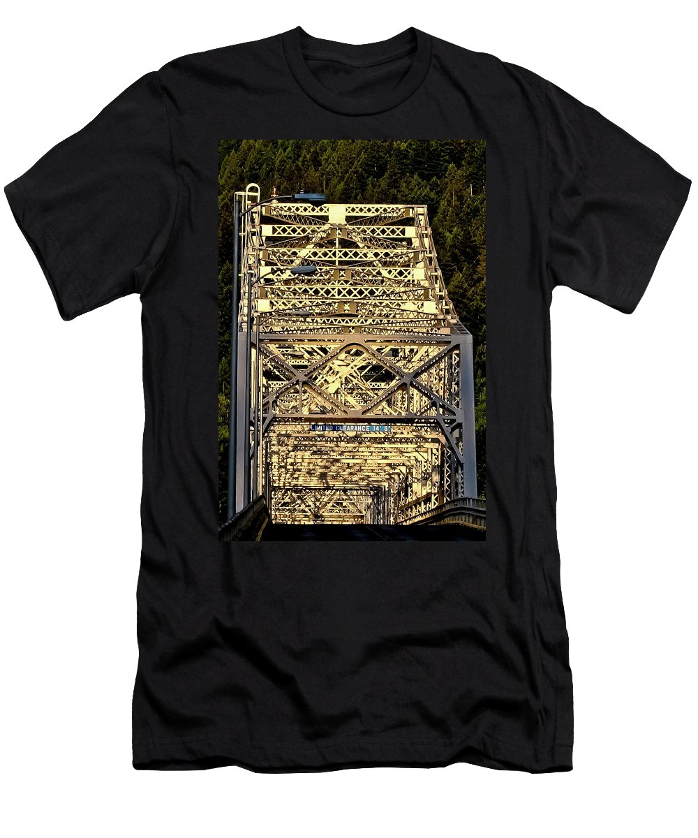 Bridge Of The Gods Men's T-Shirt (Athletic Fit) featuring the photograph Bridge Of The Gods by Albert Seger