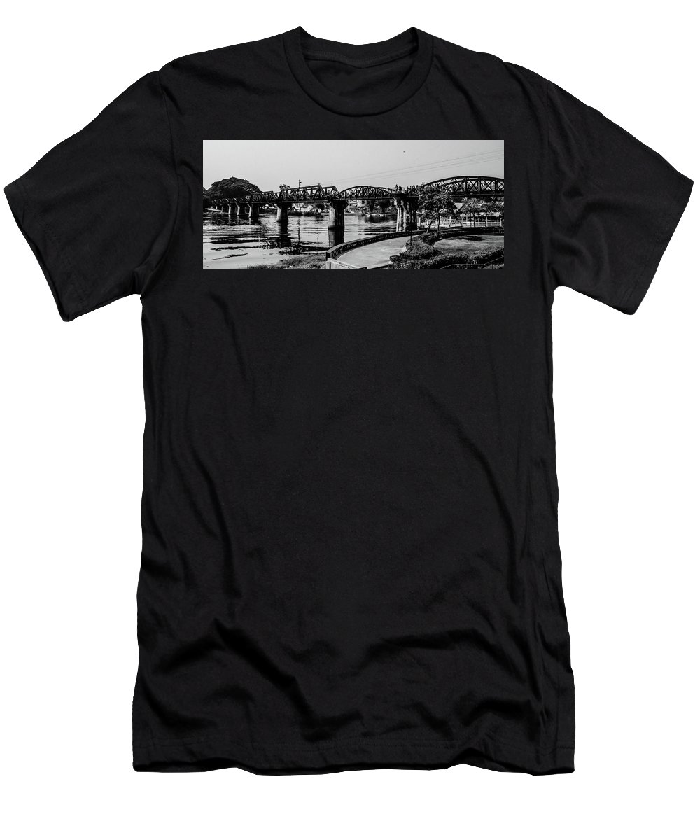 Thailand Men's T-Shirt (Athletic Fit) featuring the photograph Bridge Over River Kwai by Darlene Through Dee's Eyes