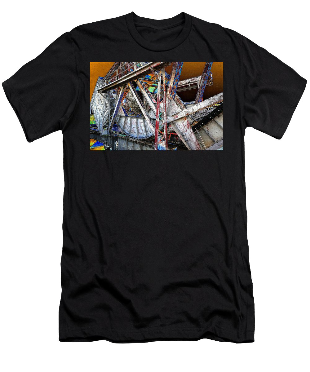 Bridge Men's T-Shirt (Athletic Fit) featuring the painting Bridge Works by David Lee Thompson