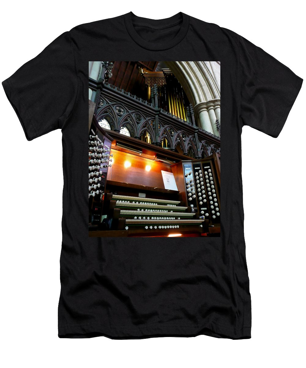 Organ Men's T-Shirt (Athletic Fit) featuring the photograph Bridlington Priory Pipe Organ by Jenny Setchell