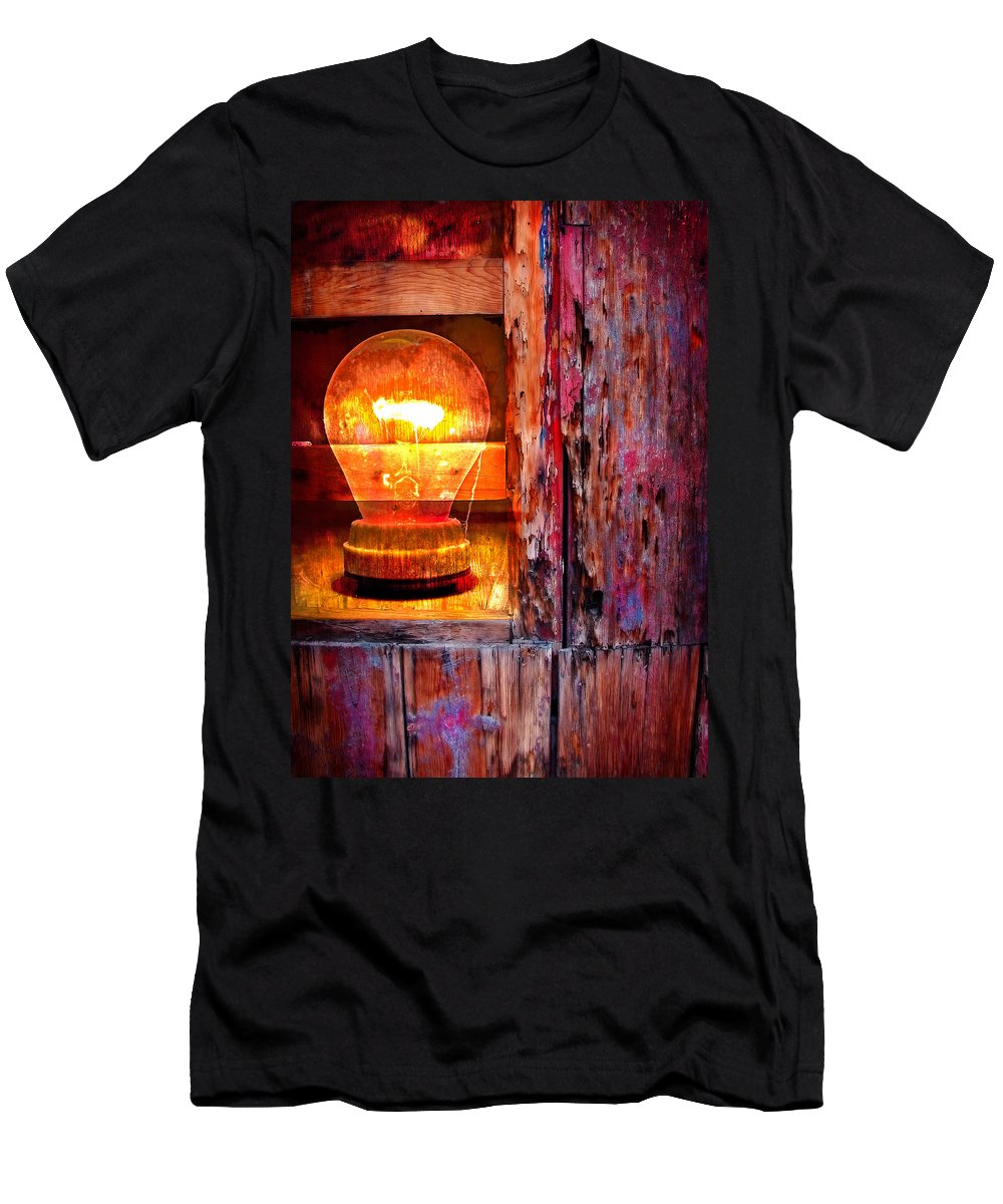 Skip Men's T-Shirt (Athletic Fit) featuring the photograph Bright Idea by Skip Hunt