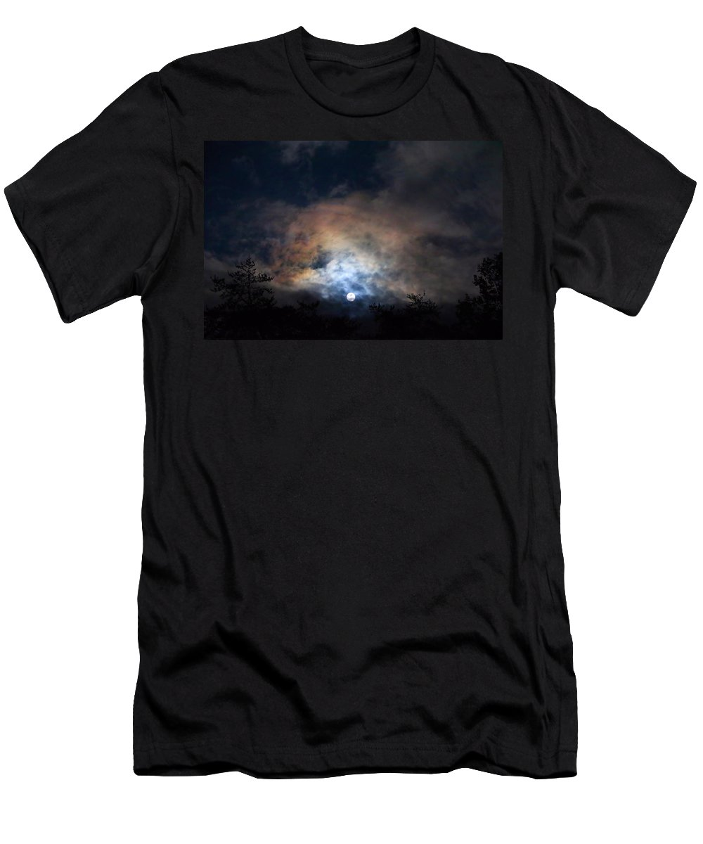 Night Sky Men's T-Shirt (Athletic Fit) featuring the photograph Bright Night Skies by Kathryn Meyer