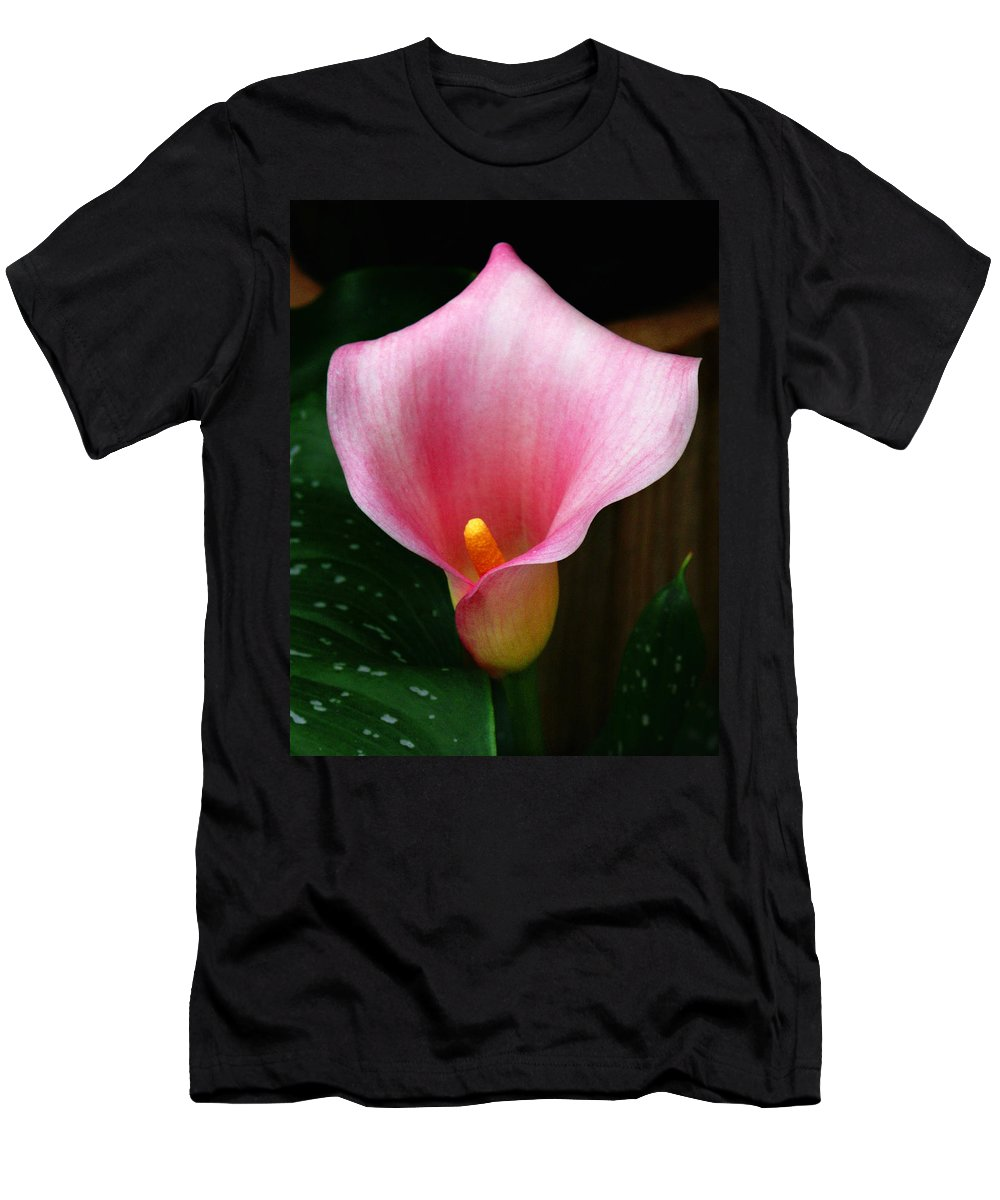 Bright Pink Men's T-Shirt (Athletic Fit) featuring the photograph Bright Pink Calla by Marilyn Hunt