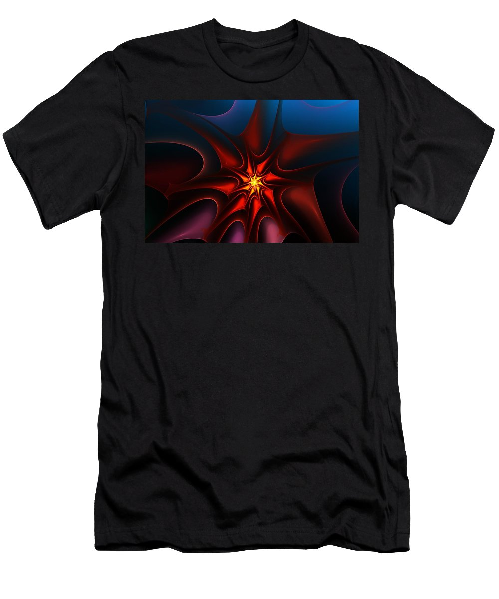 Abstract Men's T-Shirt (Athletic Fit) featuring the digital art Bright Star by David Lane