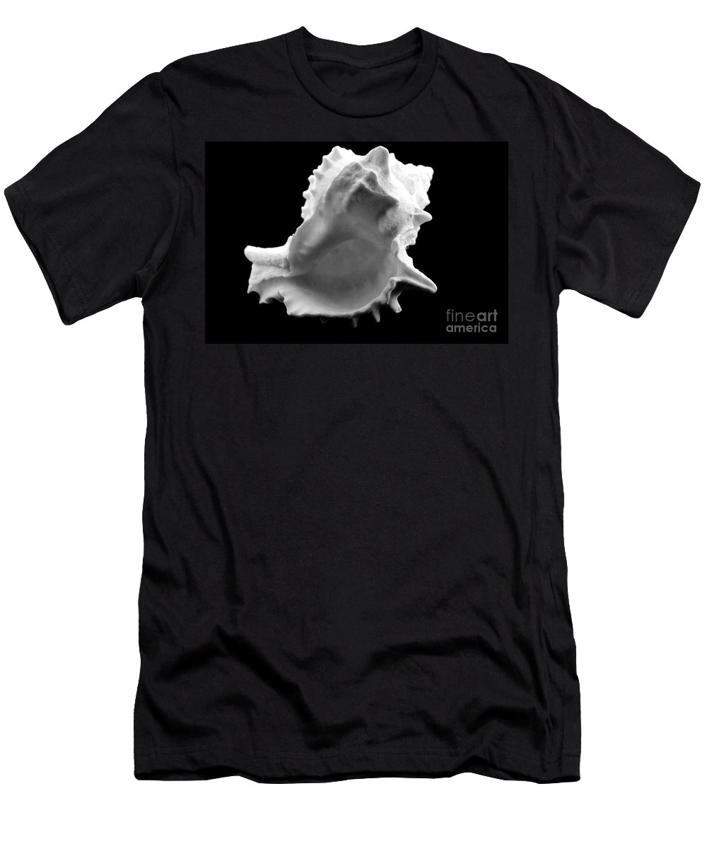 Mary Deal Men's T-Shirt (Athletic Fit) featuring the photograph Brilliant Drupe In Black And White by Mary Deal
