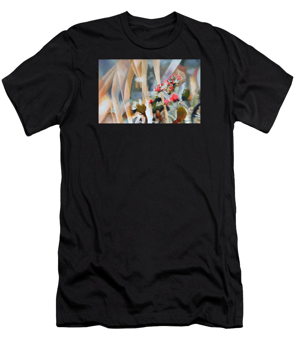 Nature Men's T-Shirt (Athletic Fit) featuring the painting British Soldiers by Dave Martsolf