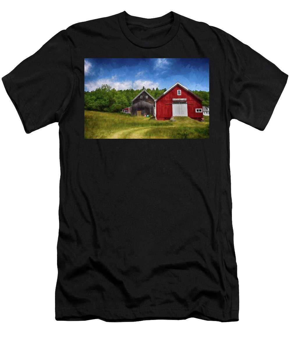 Green Men's T-Shirt (Athletic Fit) featuring the photograph Broad Acres Is The Place To Be by Tricia Marchlik