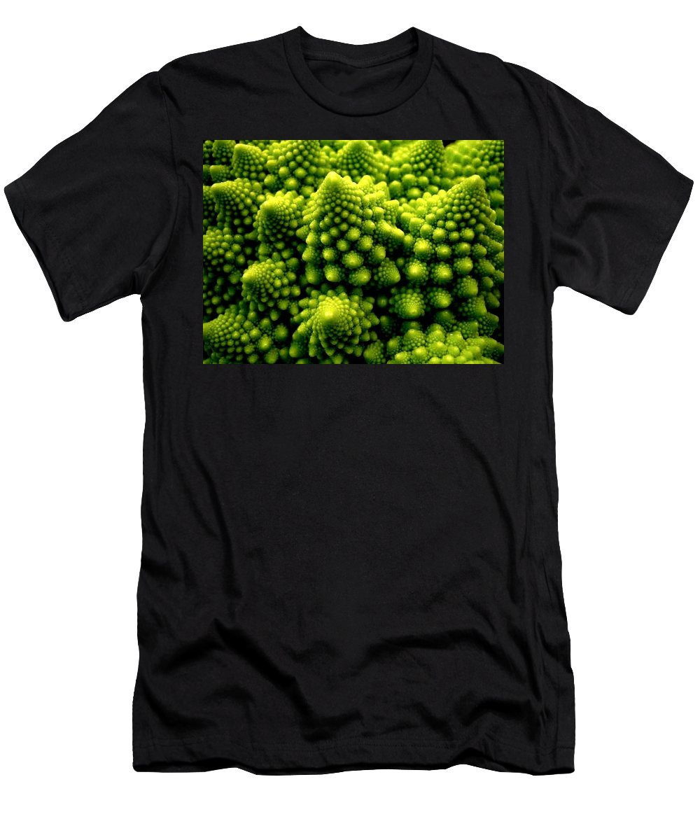 Broccoli Men's T-Shirt (Athletic Fit) featuring the photograph Broccoli by Dragica Micki Fortuna