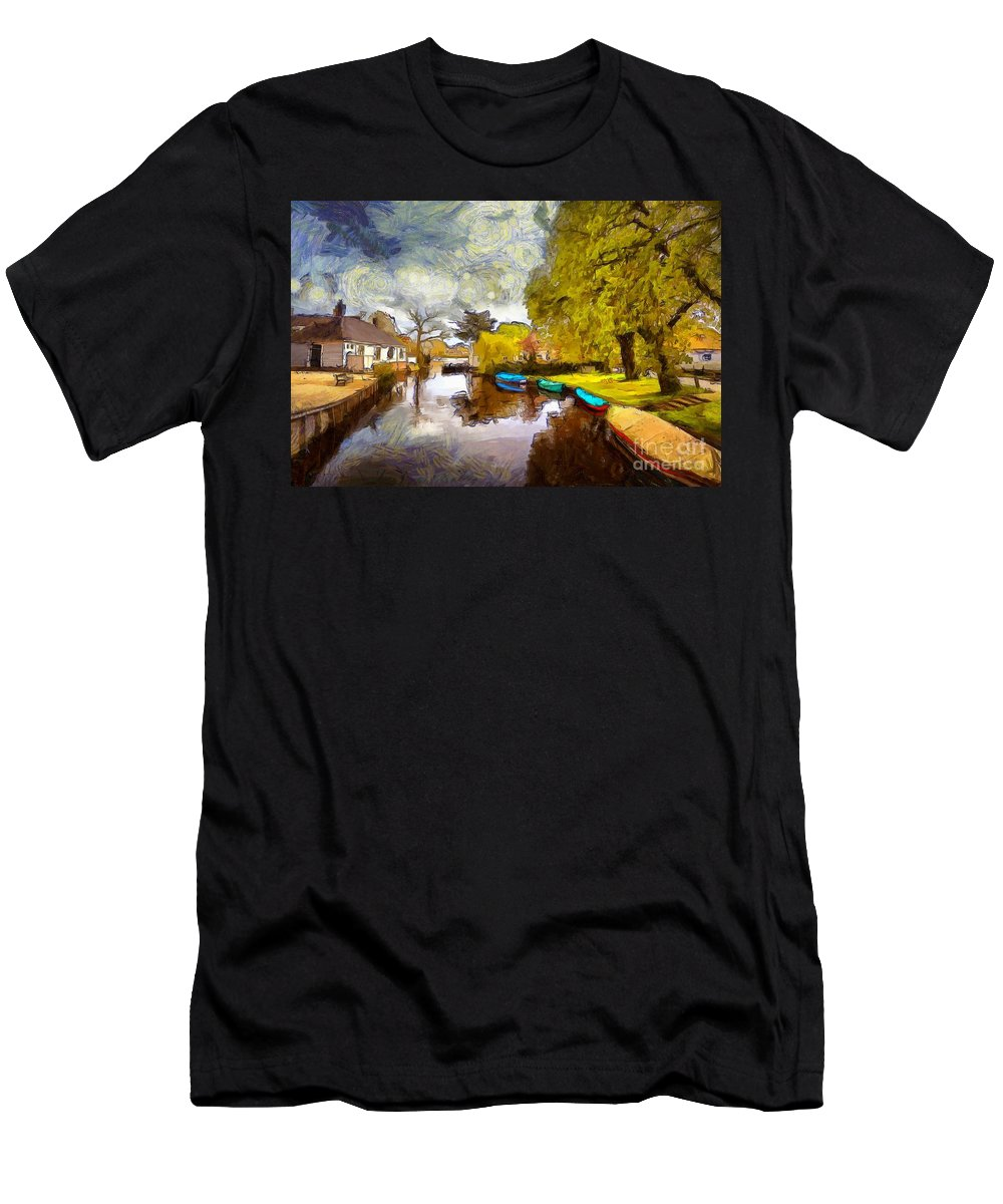 Broek In Waterland Men's T-Shirt (Athletic Fit) featuring the photograph Broek In Waterland by Eva Lechner